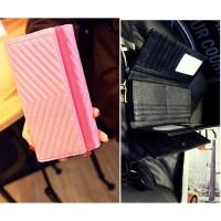 dompet fesyen wanita merah pink kulit korea import modis murah bagus
