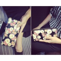dompet fashion korean woman wallet clutch pergi pesta kece badai hitam