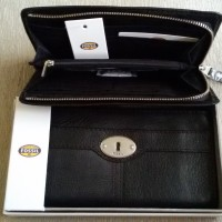 Fossil Marlow Clutch zip Black