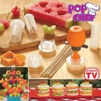 Pop Chef Fruit Cutter Food / Pemotong dekorasi buah-buahan