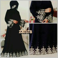 Jual Baju gamis pesta Zahra   Dress jumbo-longdress flower-party muslimah Murah