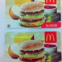 Voucher McDonald 's / McD Gift Card Rp. 100.000