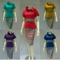Dress / Baju Dress / Dress Batik / Batik Dress / Dress Merah / Dress Cantik
