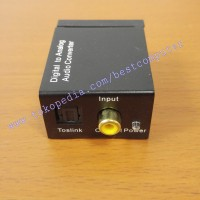 DIGITAL TO ANALOG AUDIO CONVERTER (OPTICAL / COAXIAL TO RCA)