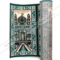 Sajadah Karpet Roll Murah Masjid Mushola Motif Hijau Mesjid Tebal