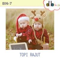 harga Topi Bayi / Anak Santa Dan Rusa / Reindeer : Bn-7 Topi Natal Rajut Tokopedia.com
