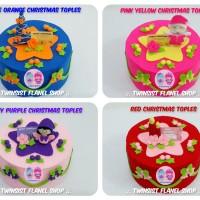 harga Toples Hias Unik dan Cantik : Toples Natal (Christmas Toples) Flanel Tokopedia.com