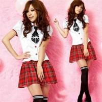 Seifuku Seragam Sekolah Jepang Tartan Star Kostum Cosplay Import