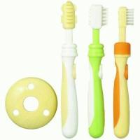 PIGEON Training Toothbrush Set | Sikat Gigi Bayi | Baby Tooth Brush