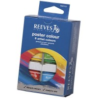 Reeves Poster Colour Set 6 x 22ml