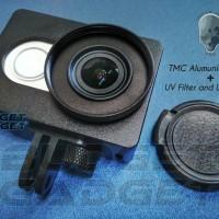 Aluminum Case for Xiaomi Yi with UV Filter+CNC Screw