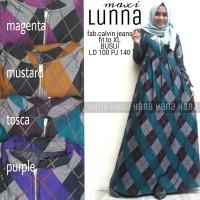 lunna maxi calvin jeans / supplier gamis cantik