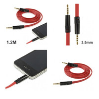 Aux Audio Cable 3.5mm Jack Earphone Cable Monster Beats BlackWhiteRed
