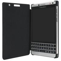 OFFICIAL BLACKBERRY Leather Flip Case BlackBerry Passport SILVER Ed.