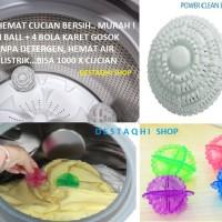 Jual PAKET 2 CLEAN BALLZ + 4 BOLA KARET GOSOK / LAUNDRY BALL TANPA DETERGEN Murah