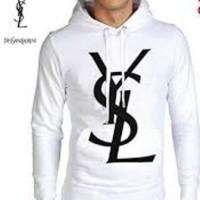harga Jaket/switer/sweater/zipper/hoodies/hoodie saint laurent putih Tokopedia.com