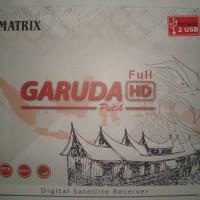 Receiver Parabola Matrix Garuda HD MPEG4 Putih (Prepaid) Free Voucher