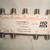 Splitter 8 Way untuk TV Kabel Kaonsat KSAP-8W (5-2400 MHZ)
