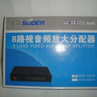 Suoer 8 Load Audio Video Amplifier 1x8 Splitter (AV Distributor 8 Ch)