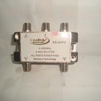 Splitter 4 Way untuk TV Kabel Kaonsat KSAP-4W (5-2400MHZ)