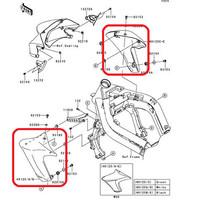 Fairing / Cowling Samping Kawasaki ER6N Original, Ready Stock