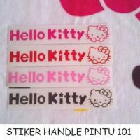 STIKER HANDLE / PINTU MOBIL HELLO KITTY 101
