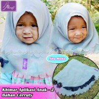 Jilbab anak / Khimar Anak Ar Rafi Aplikasi 2