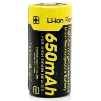 Baterai Senter RCR123A 650mAh NITECORE Rechargeable Battery 3.7V