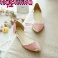 harga Flat Mika Pink, Sepatu Wedges Flat Shoes Sepatu Wanita Tokopedia.com