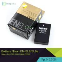 battery | Baterai kamera nikon EN-EL9 / EN-EL9a for D40 D60 D40X D5000