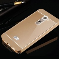 bumper LG G2 aluminium metal with back case PC double protection