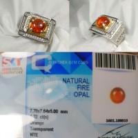 Harga batu fire opal wonogiri kristal ring perak | Pembandingharga.com