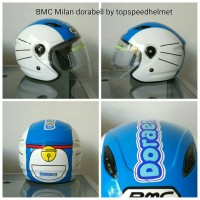 harga helm doraemon BMC Milan biru putih Tokopedia.com