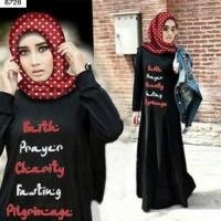 Maxi Dress Muslimah Online 2 in 1 Faith Prayer Maxi