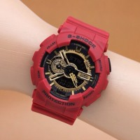 Jam Anak Trendy 2016 G-Shock Gshock GA-110 Red Gold