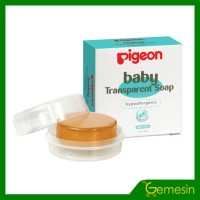 PIGEON Baby Transparent Soap Chamomile 80gr- Sabun Bayi bening