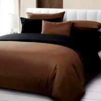 Bedcover Set Katun Prada Polos Black Choco
