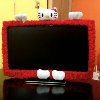 Bando Tv / Cover Tv Hello Kitty Merah