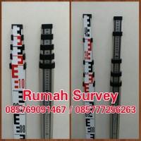 BAK UKUR / RAMBU UKUR 5M / LEVELLING STAFF 5 M + Nivo