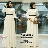 casandra eksklusive gown ori nabtik / dress hijab pesta putih
