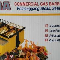 GETRA 2 BURNER BBQ GAS ETK111 PEMANGGANG STEAK, SATE, SOSIS, OTAK-OTAK