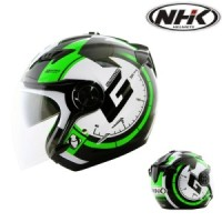 harga HELM NHK GLADIATOR G25 (WHITE GREEN) Tokopedia.com