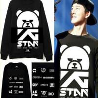 YG STAND LONGSLEEVE sweatshirt sweater stan bear logo black kpop korea