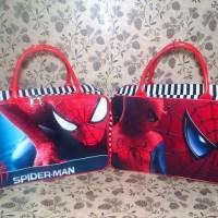 Tas Travel Bag Koper Kanvas Renang Kotak Anak Tenteng Spiderman
