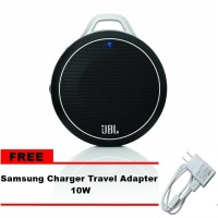 JBL Micro Wireless Speaker Bluetooth - Hitam + Samsung Charger Adapter