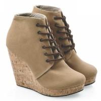 harga Sepatu Boots Wedges Perempuan Sepatu Boots Wanita Wedges Boot Cewek Tokopedia.com