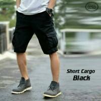 celana cargo pendek hitam