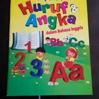 buku aktivitas / activity book mengenal huruf & angka in english