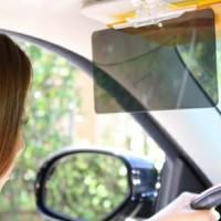 HD Vision Visor Pelindung silau kaca mobil untuk siang & malam HMB003