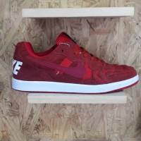Nike Tiempo Trainer Merah Maroon